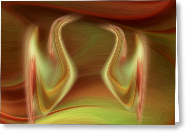 Abstract Fantasy Art - The Date By Rgiada Greeting Card