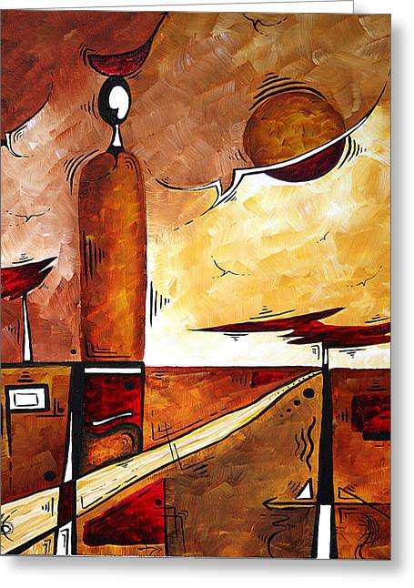 Abstract Figurative Art African Flame By Madart Greeting Card by Megan Duncanson