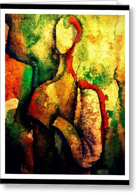 Abstract Figure # 3 Greeting Card by Chris Boone