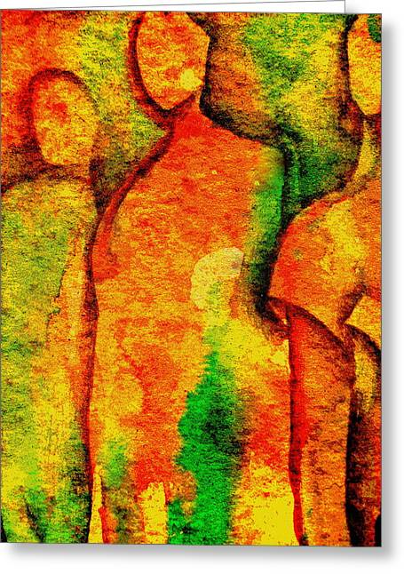 Abstract Figures Greeting Card by Chris Boone