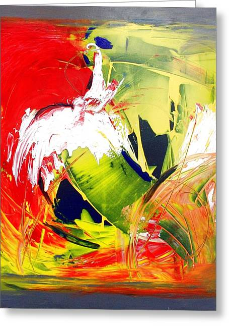 Abstract Fine Art Print - Gestural Abstraction Greeting Card by Mario Zampedroni