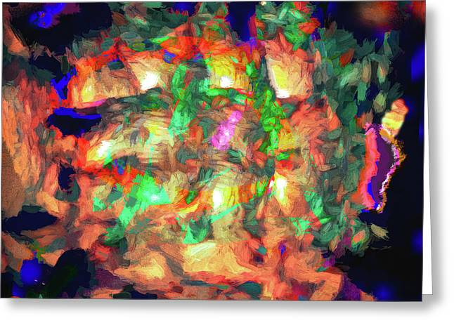 Abstract - Fire In The Belly Greeting Card
