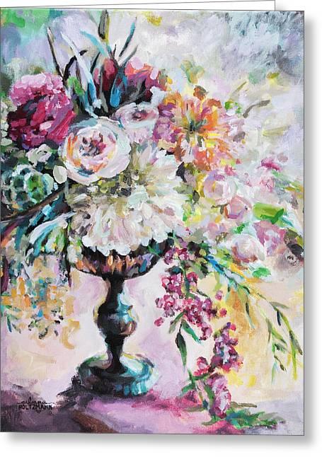Abstract Floral Greeting Card by Arleana Holtzmann