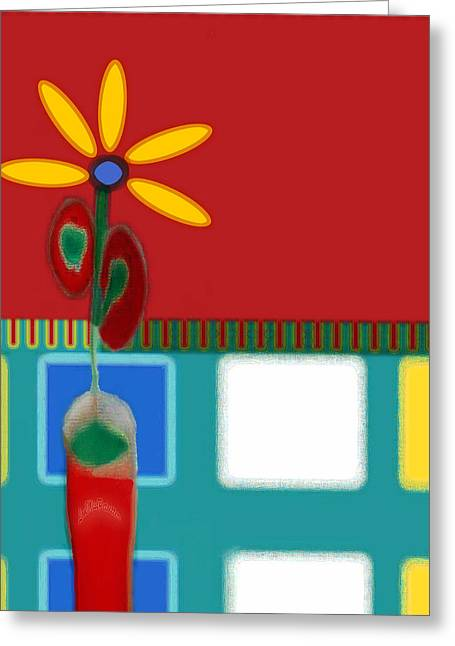 Abstract Floral Art 129 Greeting Card