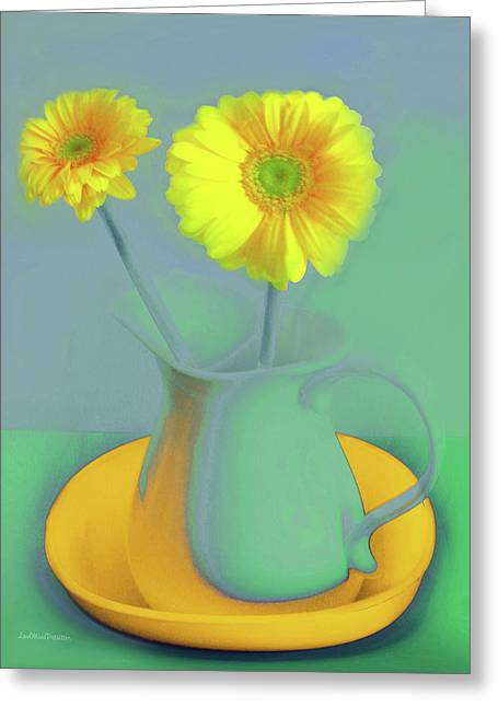 Abstract Floral Art 307 Greeting Card