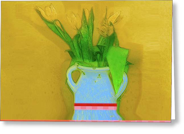 Abstract Floral Art 323 Greeting Card