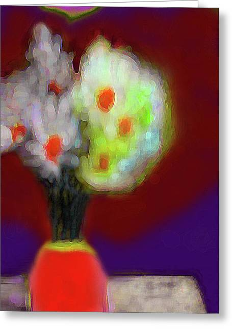 Abstract Floral Art 340 Greeting Card