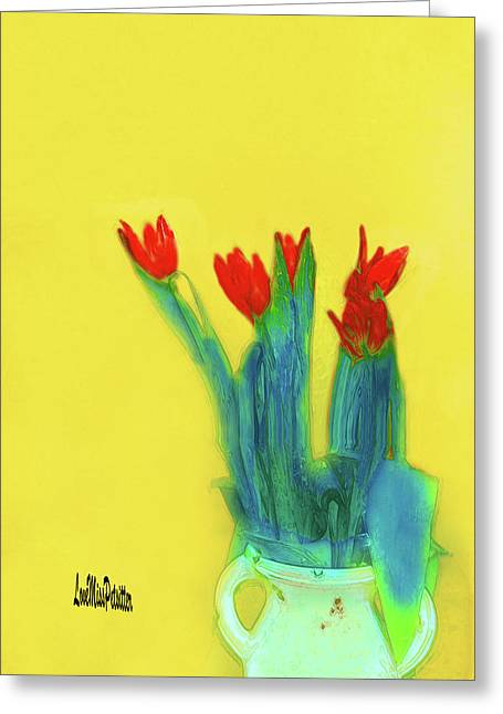 Abstract Floral Art 345 Greeting Card