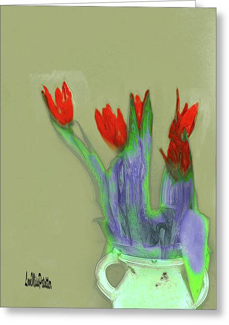 Abstract Floral Art 346 Greeting Card
