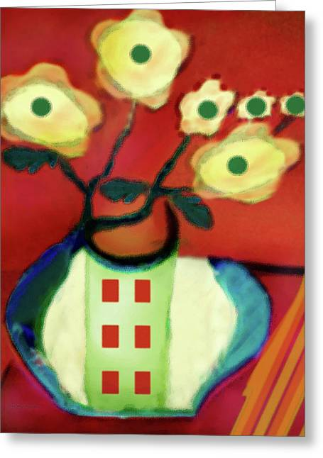 Abstract Floral Art 76 Greeting Card