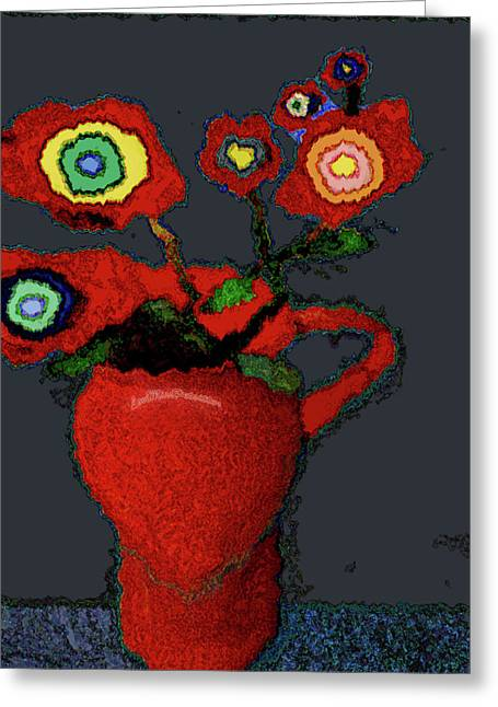 Abstract Floral Art 90 Greeting Card