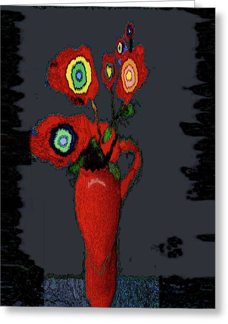 Abstract Floral Art 91 Greeting Card