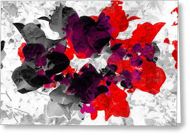 Abstract Floral No.3 Greeting Card