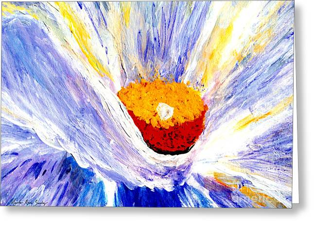 Abstract Floral Painting 001 Greeting Card