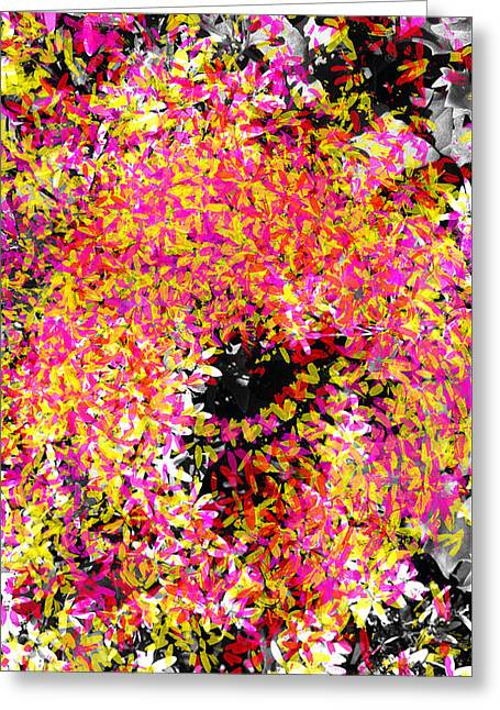 Abstract Floral Swirl No.3 Greeting Card