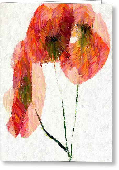 Abstract Flower 0718 Greeting Card by Rafael Salazar