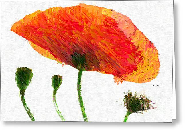 Abstract Flower 0723 Greeting Card by Rafael Salazar