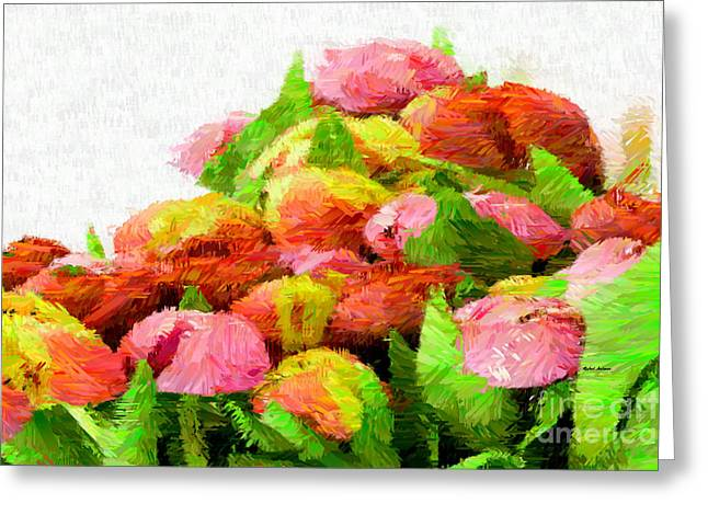 Abstract Flower 0727 Greeting Card by Rafael Salazar