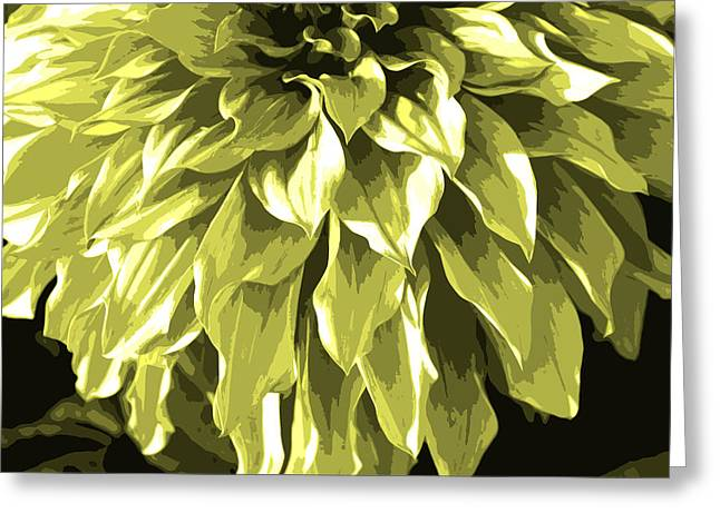 Olive Green Photographs Greeting Cards - Abstract Flower 5 Greeting Card by Sumit Mehndiratta