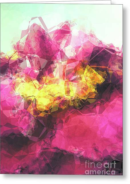 Abstract Flower Greeting Card by Angela Doelling AD DESIGN Photo and PhotoArt