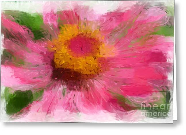 Abstract Flower Expressions Greeting Card
