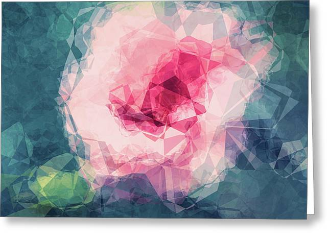 Abstract Flower II Greeting Card by Angela Doelling AD DESIGN Photo and PhotoArt