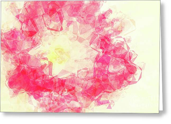 Abstract Flower Iv Greeting Card by Angela Doelling AD DESIGN Photo and PhotoArt