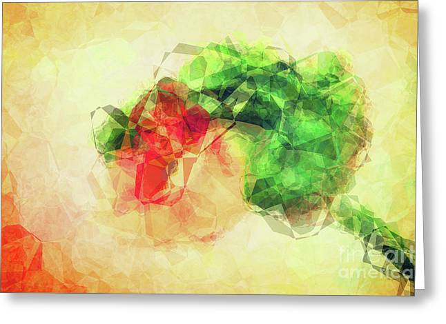 Abstract Flower V Greeting Card by Angela Doelling AD DESIGN Photo and PhotoArt