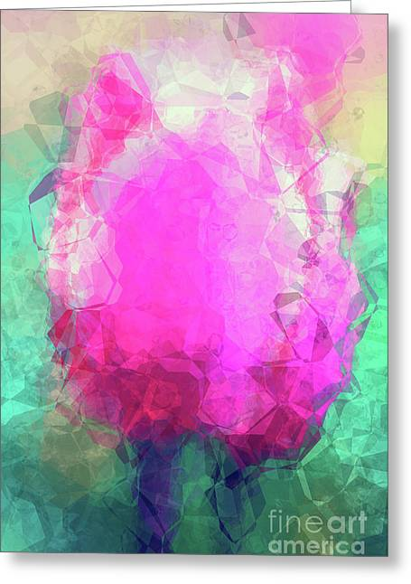 Abstract Flower Vi Greeting Card by Angela Doelling AD DESIGN Photo and PhotoArt