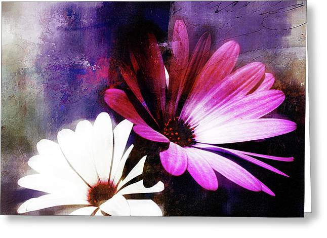 Abstract Flowers 432 Greeting Card