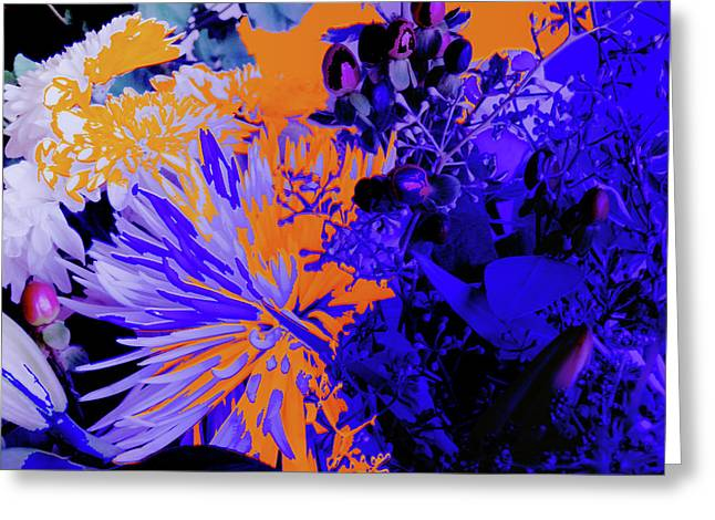 Abstract Flowers Of Light Series #1 Greeting Card
