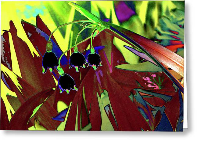 Abstract Flowers Of Light Series #10 Greeting Card