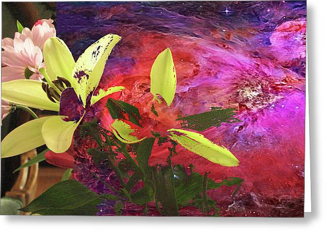 Abstract Flowers Of Light Series #16 Greeting Card