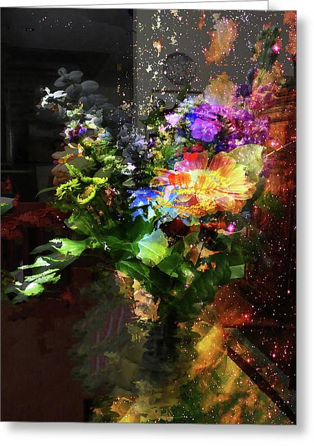 Abstract Flowers Of Light Series #17 Greeting Card