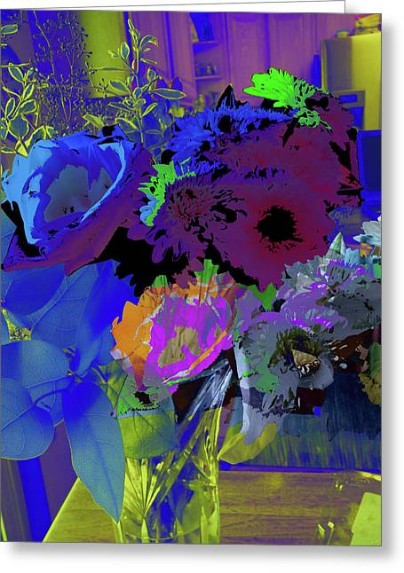 Abstract Flowers Of Light Series #18 Greeting Card