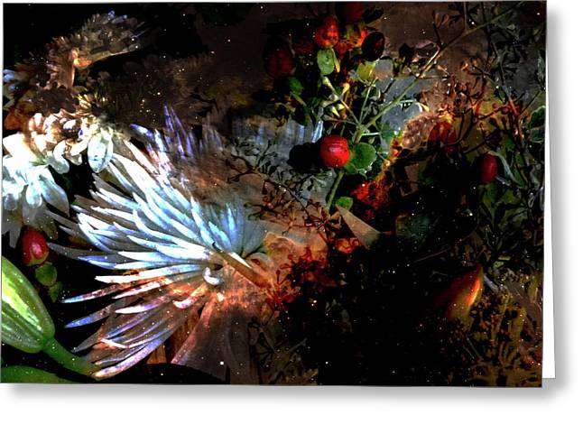 Abstract Flowers Of Light Series #5 Greeting Card