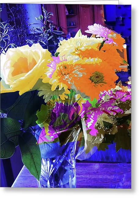 Abstract Flowers Of Light Series #7 Greeting Card