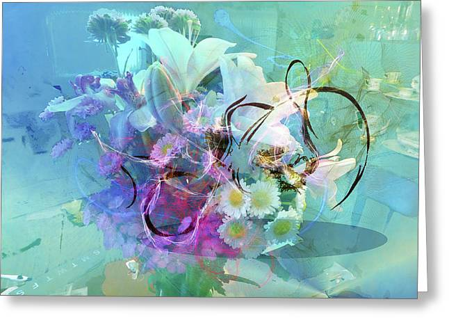 Abstract Flowers Of Light Series #9 Greeting Card