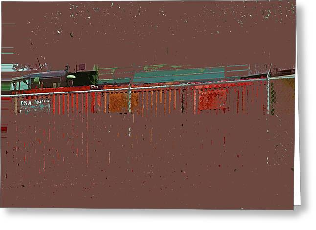 Abstract For Viv Greeting Card by Lenore Senior