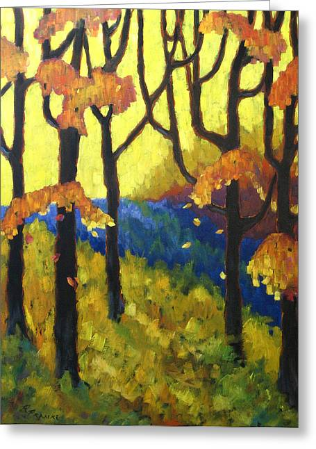Abstract Forest Greeting Card