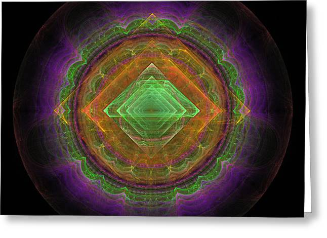 Abstract Fractal Greeting Card by Sergei Dolgov