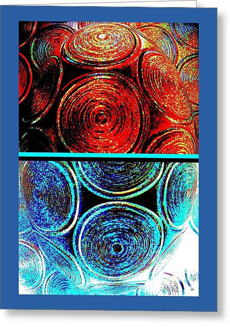 Greeting Card featuring the digital art Abstract Fusion 275 by Will Borden