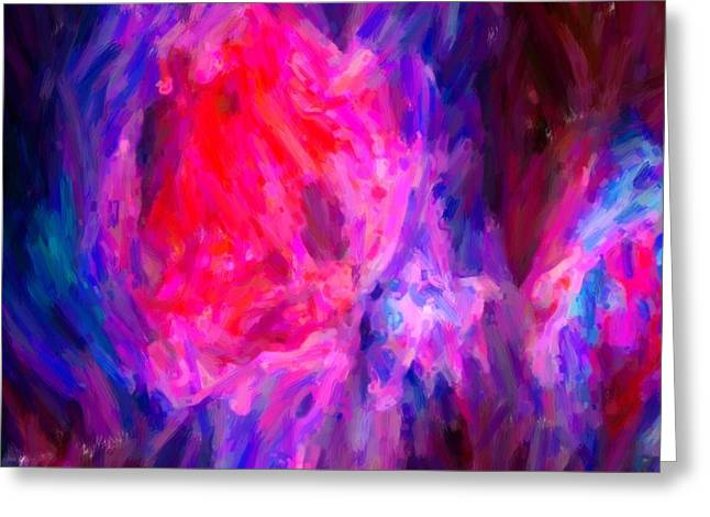 Abstract Galactic Nebula With Cosmic Cloud 6   24x16 Greeting Card by Adam Asar