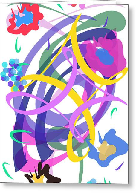 Abstract Garden #2 Greeting Card
