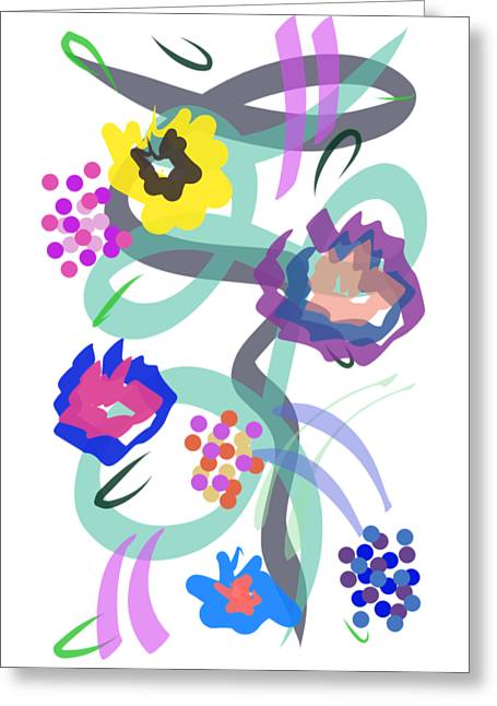 Abstract Garden Nr 4 Greeting Card
