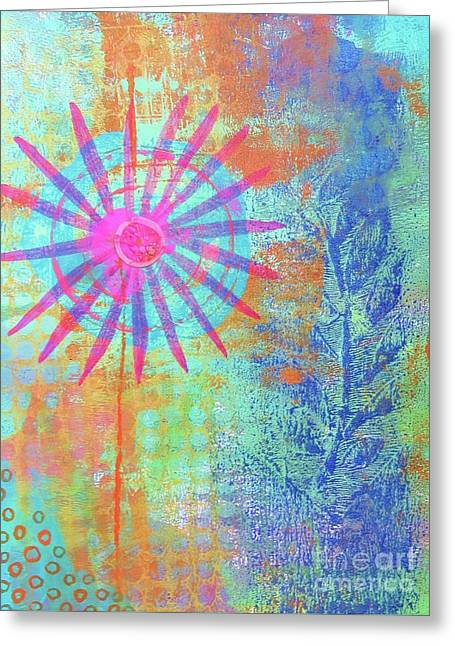 Abstract Garden Walk Greeting Card by Desiree Paquette