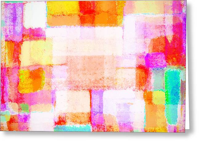 Wallpaper Pastels Greeting Cards - Abstract Geometric Colorful Pattern Greeting Card by Setsiri Silapasuwanchai
