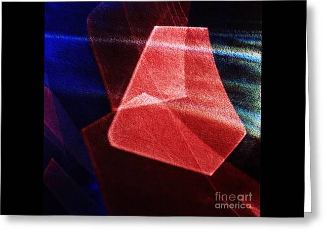 Abstract Geometry Greeting Card by Elena Lir-Rachkovskaya
