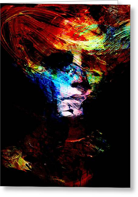 Abstract Ghost Greeting Card by Marian Voicu