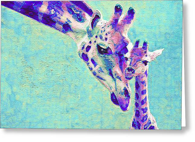 Abstract Giraffes Greeting Card by Jane Schnetlage